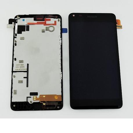 REPUESTO PANTALLA LCD + TACTIL CON MARCO ORIGINAL NOKIA LUMIA 640 , 640 DS NEGRA