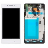 Repuesto Pantalla lcd Display + Tactil LG E975 optimus G con marco blanco
