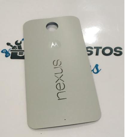 Carcasa Tapa Trasera de Bateria para Motorola Nexus 6 - Blanca