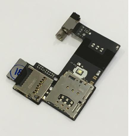 Modulo Lector Tarjeta SIM, MicroSD y Vibrador para Motorola Moto G2 (1 SIM)