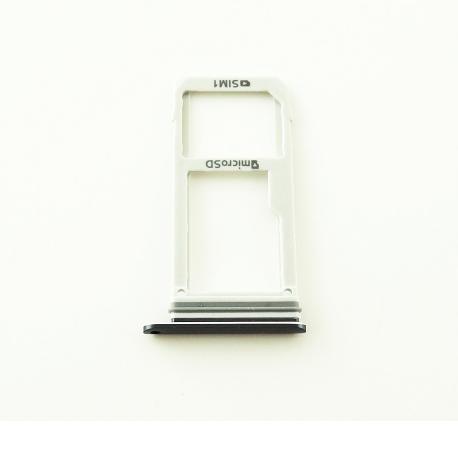 Bandeja de Tarjeta SIM y MicroSD para Samsung Note 7 N930F - Negra