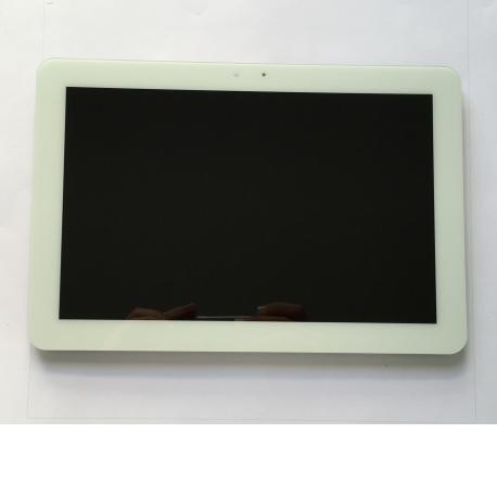 "REPUESTO DE PANTALLA LCD + TACTIL PARA BQ EDISON 3 , FNAC 4.0 10"" - BLANCA / REMANUFACTURADA"