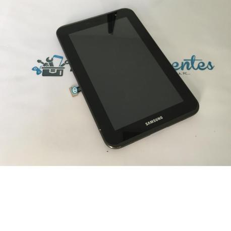 Pantalla LCD Display + Tactil Con Marco Original De Samsung Galaxy Tab 2 7.0 P3100