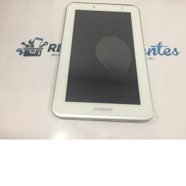 PANTALLA LCD DISPLAY + TACTIL CON MARCO ORIGINAL DE SAMSUNG GALAXY TAB 2 7.0 P3100 BLANCA