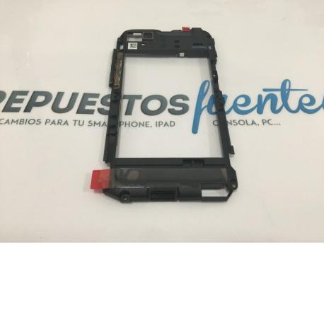 Carcasa Intermedia + Altavoz Buzzer Original BlackBerry Q5 negra