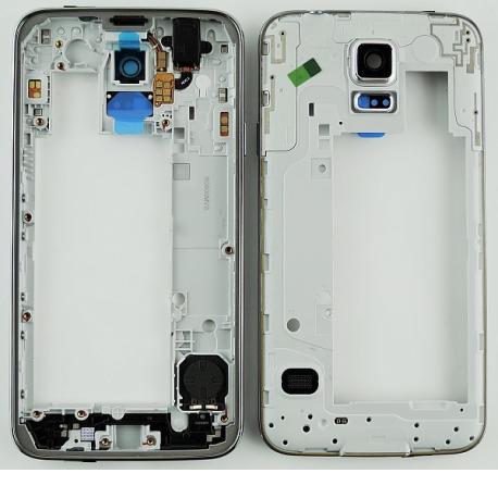 Repuesto Carcasa Intermedia con Lente para Samsung Galaxy S5 Neo G903F - Negro