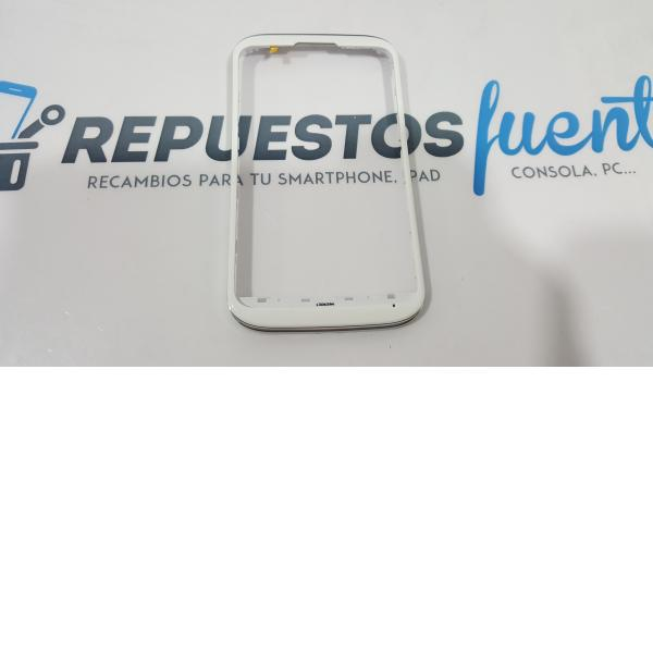 MARCO FRONTAL ORIGINAL DE ALCATEL OT-991, OT-991X BLANCO
