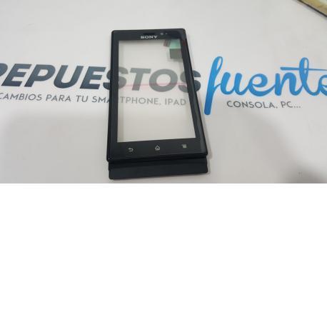 Pantalla tactil cristal + Marco Sony Xperia Sola, MT27i