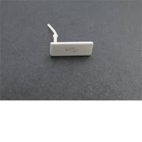 TAPA PROTECTORA RANURA DE CONECTOR MICRO USB ORIGINAL SONY XPERIA GO ST27I - BLANCO