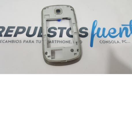 CARCASA INTERMEDIA SAMSUNG GALAXY MINI S5570 PLATA