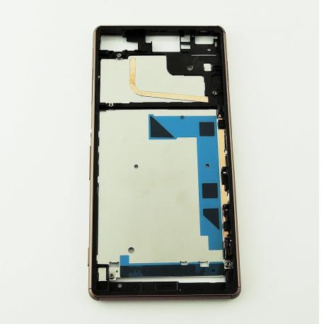 Marco Frontal del LCD para Sony Xperia Z3 D6603 - Oro