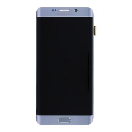 Pantalla LCD Display + Tactil con Marco para Samsung Galaxy S6 Edge+ Plus SM-G928 - Plata
