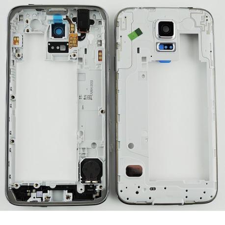 Repuesto Carcasa Intermedia con Lente para Samsung Galaxy S5 Neo G903F - Blanca