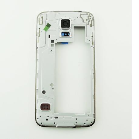 Repuesto Carcasa Intermedia con Lente para Samsung Galaxy S5 Neo G903F - Oro