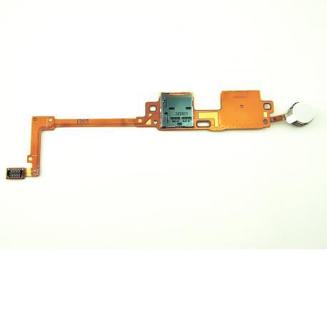 Flex de Lector Tarjeta SIM y Vibrador para Samsung SM-P600 Galaxy Note 10.1