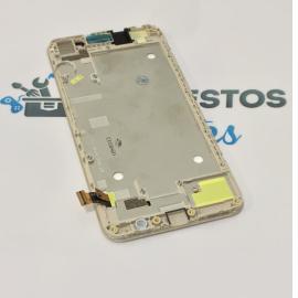PANTALLA LCD DISPLAY + TACTIL CON MARCO PARA HUAWEI Y6 4G / HONOR 4A - ORO