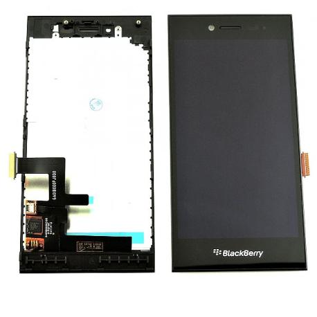 PANTALLA LCD DISPLAY + TACTIL CON MARCO PARA BLACKBERRY LEAP - NEGRA