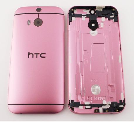 CARCASA TAPA TRASERA DE BATERIA ORIGINAL CON LENTE PARA HTC ONE M8 - ROSA