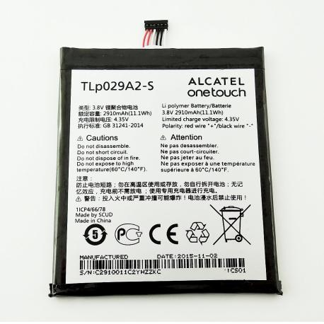 BATERIA TLP029A2-S ORIGINAL PARA ALCATEL ONE TOUCH IDOL 3 OT-6045 6545Y DE 2910MAH