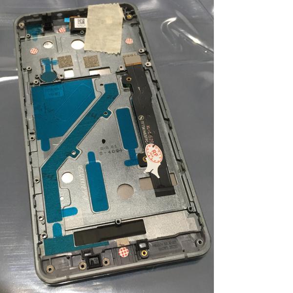 PANTALLA LCD DISPLAY + TACTIL CON MARCO GRIS PARA BQ AQUARIS X5 BLANCA - RECUPERADA