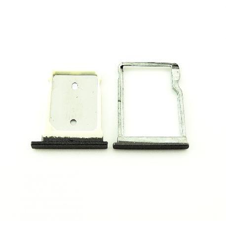 SET DE BANDEJA DE TARJETA SIM Y MICROSD PARA HTC ONE M9+ PLUS - NEGRA
