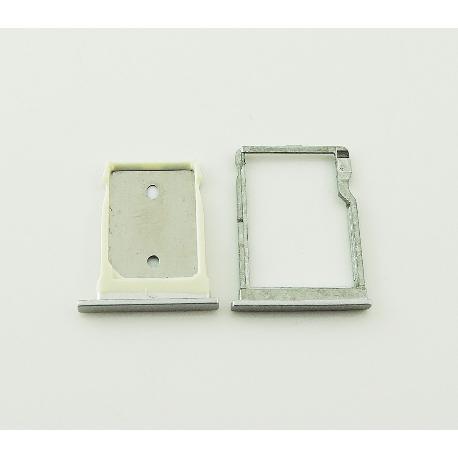 SET DE BANDEJA DE TARJETA SIM Y MICROSD PARA HTC ONE M9+ PLUS - PLATA
