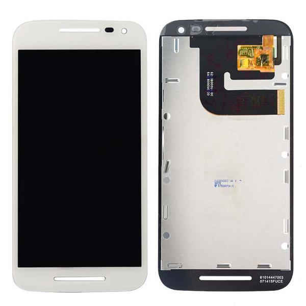 PANTALLA TACTIL + LCD DISPLAY PARA MOTOROLA MOTO G (3RD GENERACIÓN) XT1540 XT1541 - BLANCA