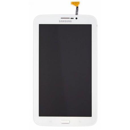 PANTALLA LCD DISPLAY + TACTIL CON MARCO ORIGINAL PARA SAMSUNG GALAXY TAB 3 7.0 3G SM-T211 - BLANCO