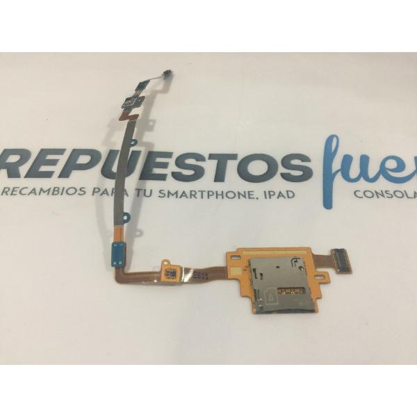 FLEX CON CONECTOR DE TARJETA SIM ORIGINAL PARA SAMSUNG T800,T801,T805