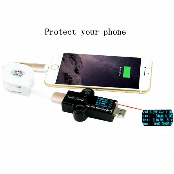 MODULO USB PARA TESTEAR CABLE USB, CARGA Y VOLTAJE