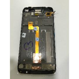 "PANTALLA TACTIL + LCD DISPLAY CON MARCO ORIGINAL PARA ALCATEL ONE TOUCH IDOL 3 5.5"" OT-6045 - NEGRA - RECUPERADA"