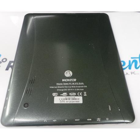 TAPA TRASERA ORIGINAL DE WOXTER PC 98 IPS DUAL NEGRA RECUPERADA