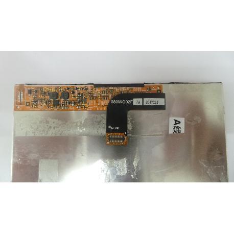 PANTALLA LCD DISPLAY ORIGINAL TABLET WOXTER ZIELO TAB 81 - RECUPERADA