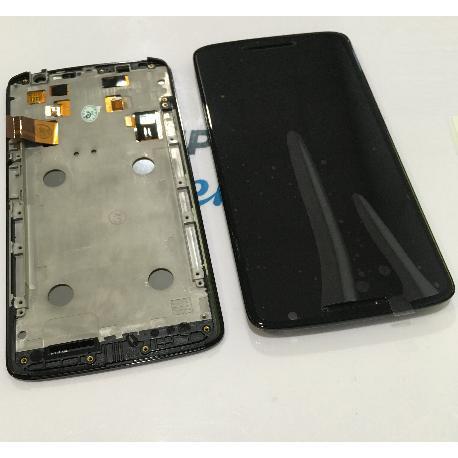 PANTALLA TACTIL + LCD DISPLAY CON MARCO PARA MOTOROLA X PLAY X3 XT1562 XT1563 - NEGRA
