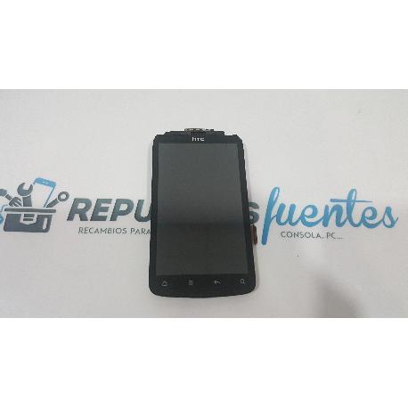 PANTALLA LCD + TACTIL CON MARCO PARA HTC DESIRE S - NEGRA