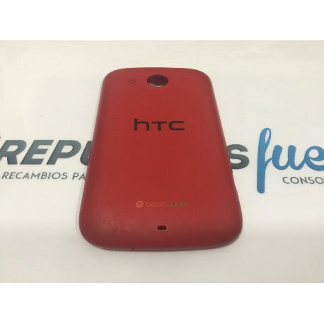 TAPA TRASERA ORIGINAL HTC DESIRE C A320ROJA RECUPERADA