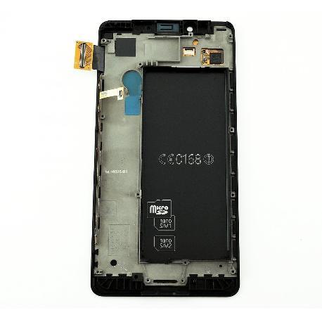 Pantalla Tactil + LCD Display con Marco Original para Microsoft Lumia 950 - Negra
