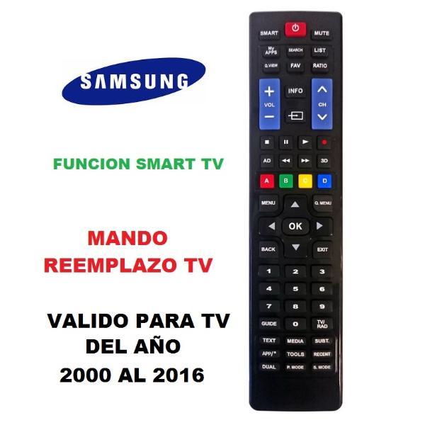 MANDO A DISTANCIA COMPATIBLE PARA TV SAMSUNG FABIRCADAS APARTIR DEL AÑO 2000 - 2016