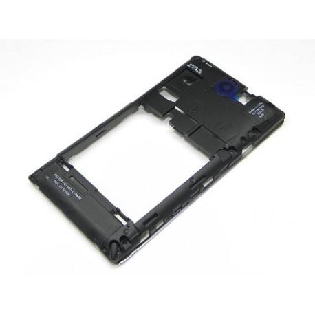 Carcasa Intermedia con lente de camara Original Sony Xperia E C1505 Negra