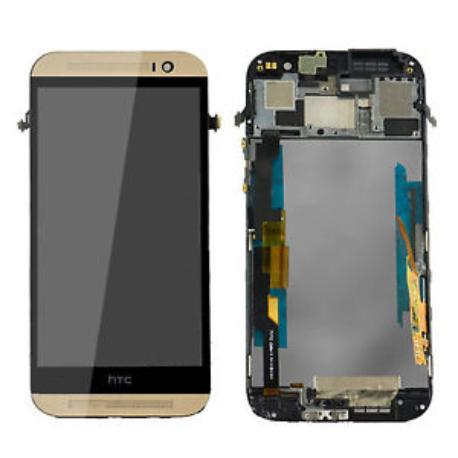 PANTALLA LCD DISPLAY + TACTIL PARA HTC ONE M8 - DORADA ORO