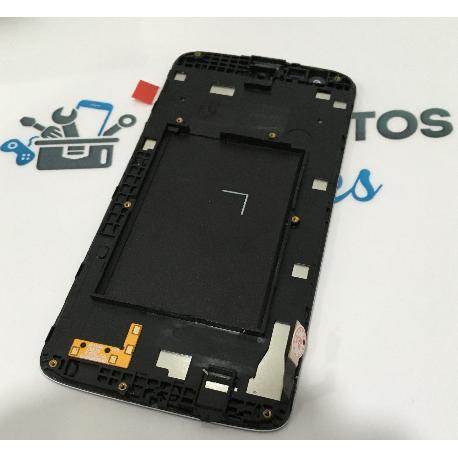 PANTALLA LCD DISPLAY + TACTIL CON MARCO PARA LG X210 K7 - BLANCA