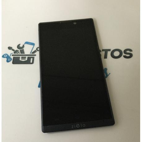 PANTALLA LCD DISPLAY + TACTIL CON MARCO NEGRO PARA WOXTER ZIELO Z -400 - RECUPERADA