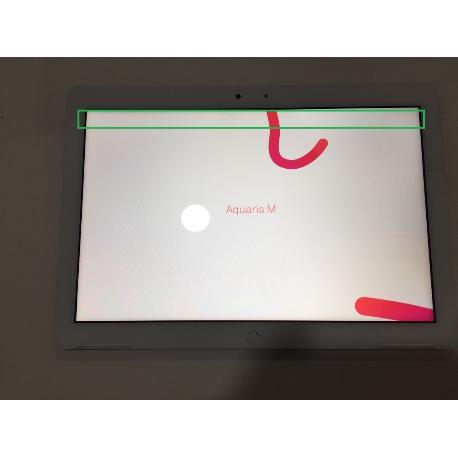 Pantalla Lcd + Tactil Con Marco Original Tablet Bq Aquaris M10 HD - Negra / Tara de Linea Verde