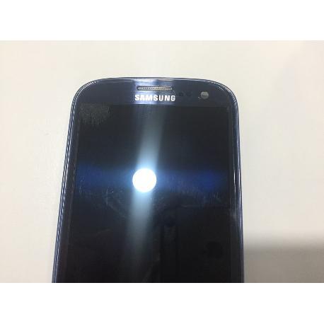 PANTALLA LCD + TACTIL CON MARCO SAMSUNG I9300 GALAXY S3 - AZUL CON TARA