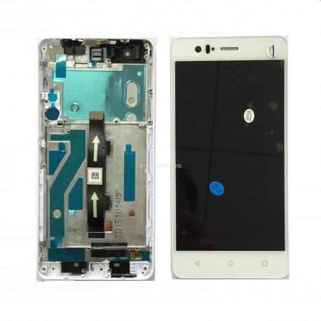 REPUESTO PANTALLA LCD + TACTIL CON MARCO ORIGINAL BQ AQUARIS M5 BLANCA - RECUPERADA