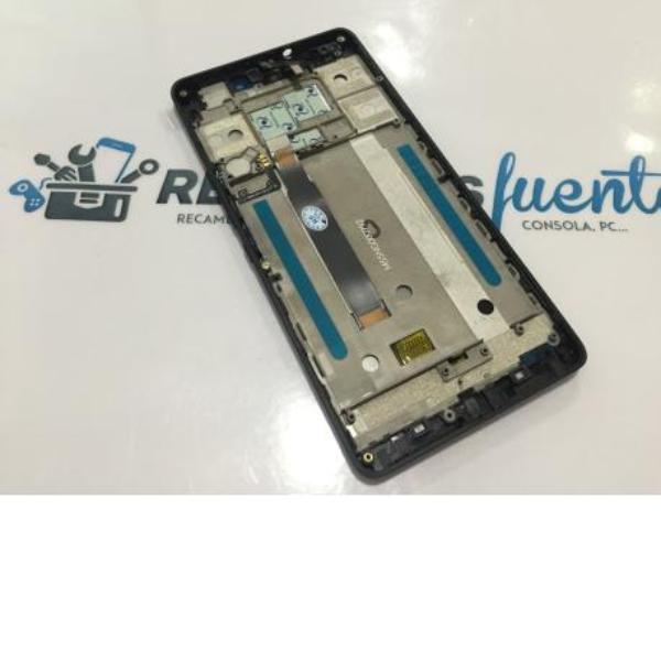PANTALLA LCD + TACTIL CON MARCO ORIGINAL BQ AQUARIS M5.5 NEGRA - RECUPERADA