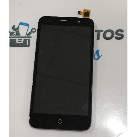 PANTALLA LCD DISPLAY + TACTIL CON MARCO ORIGINAL ALCATEL ONE TOUCH PIXI 3 (5.0) 5015X - NEGRA / RECUPERADA