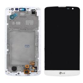 PANTALLA LCD DISPLAY + TACTIL CON MARCO ORIGINAL LG BELLO D331 D335 BLANCA - RECUPERADA