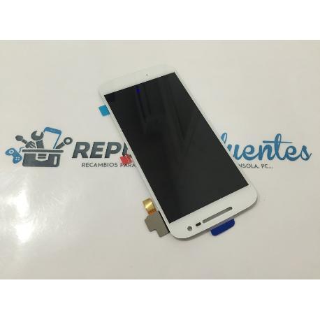REPUESTO PANTALLA LCD DISPLAY + TACTIL MOTOROLA MOTO G4 2016 BLANCA - RECUPERADA