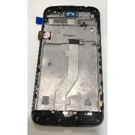 PANTALLA TACTIL + LCD DISPLAY CON MARCO PARA MOTOROLA G4 PLAY - NEGRA